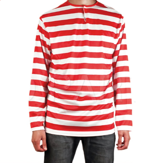 Where's Wally Red & White Stripe Top