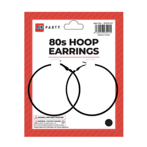 Hoop Earrings Black