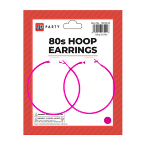 Hoop Earrings Neon Pink