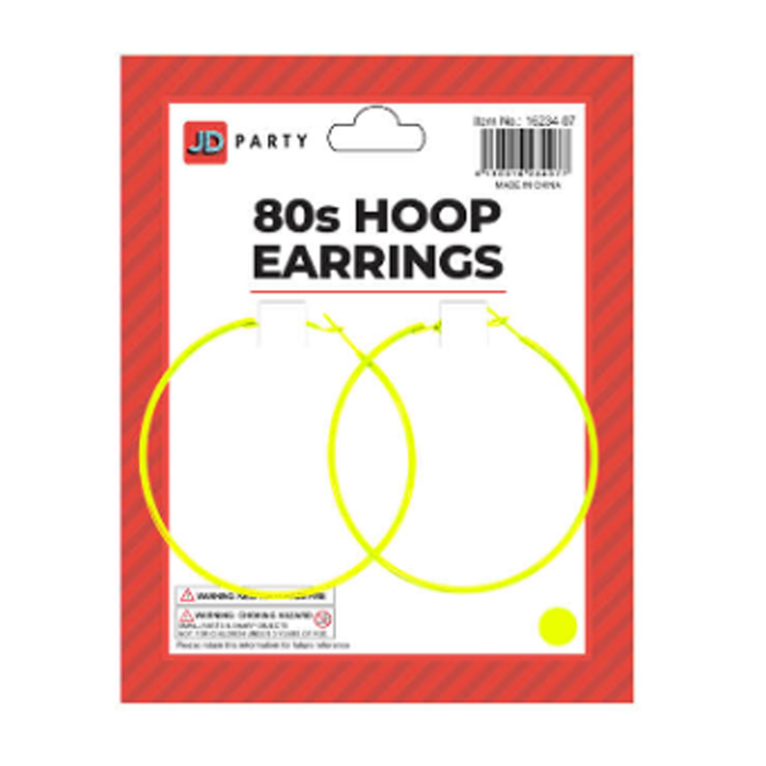 Hoop Earrings Neon Yellow