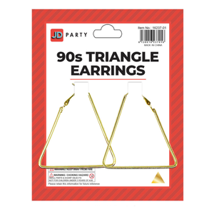 90s Triangle Earrings Gold