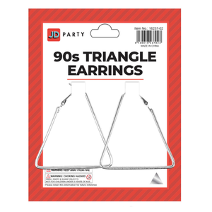 90s Triangle Earrings Silver