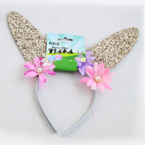 Easter Bunny Ears Glitter - Gold