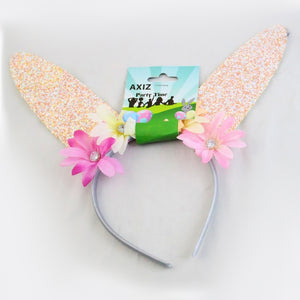Easter Bunny Ears Glitter - Light Pink