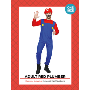Mario Adult Red Plumber Costume