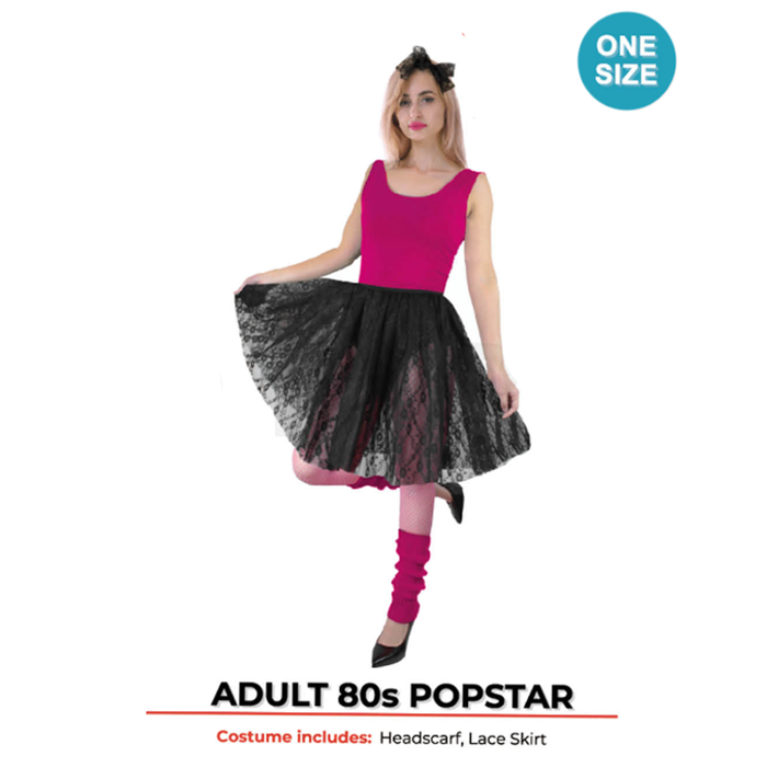 Adults Popstar Lace Skirt