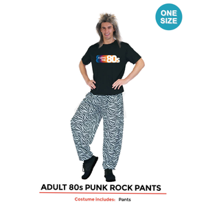 Adults 80s Punk Rock Pants Costume
