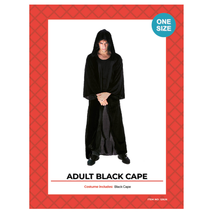 Adult Black Cape