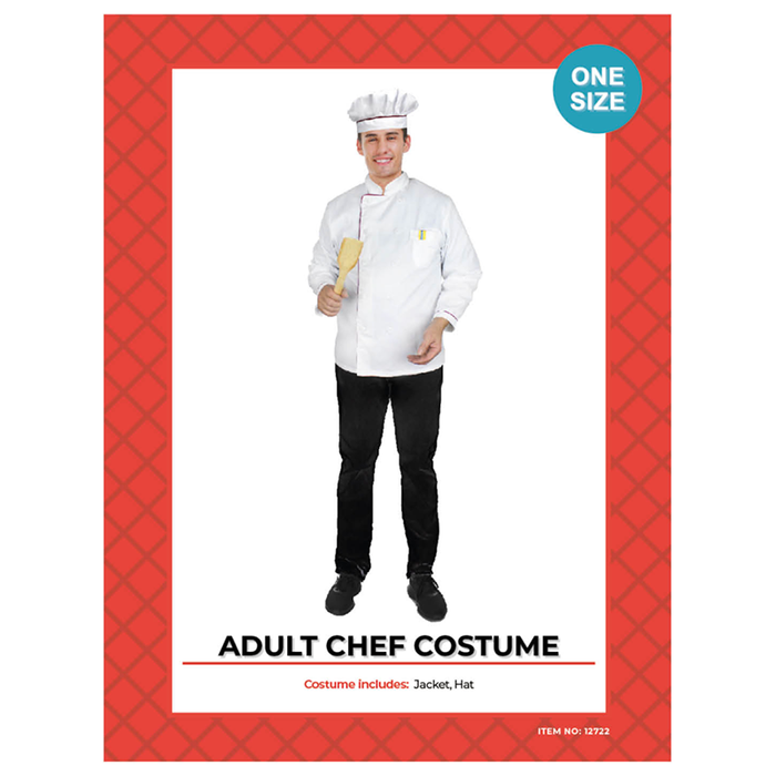 Adult Chef Jacket & Hat Costume