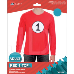 Adult Thing 1 Red Top