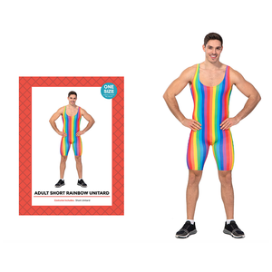 Adult Rainbow Stripe Unitard