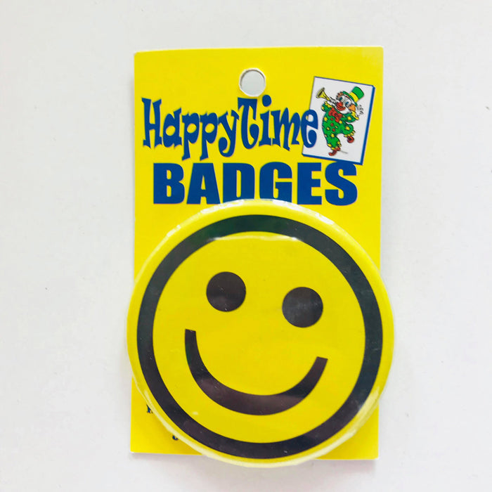 Happy Face Badge