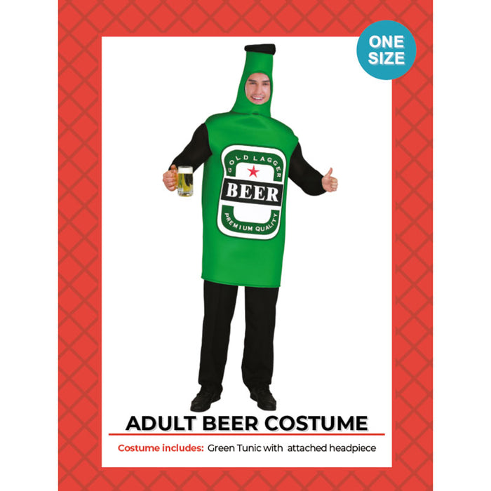 Beer Bottle Green Costume