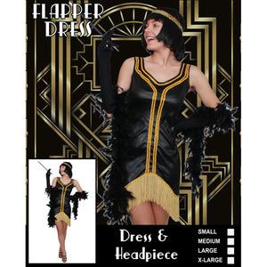 Black And Gold Flapper Costume