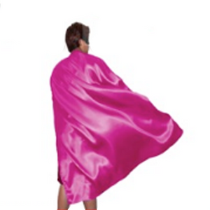 Long Hot Pink Cape