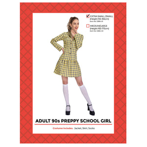 Preppy 90s School Girl Costume