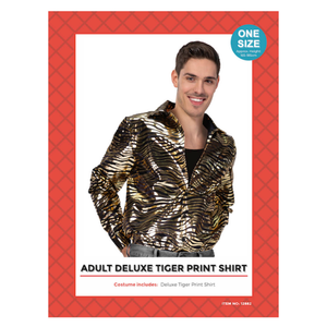 Adult Deluxe Tiger Print Shirt