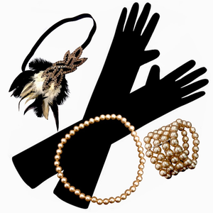 Deluxe Rose Gold Gatsby Flapper Set