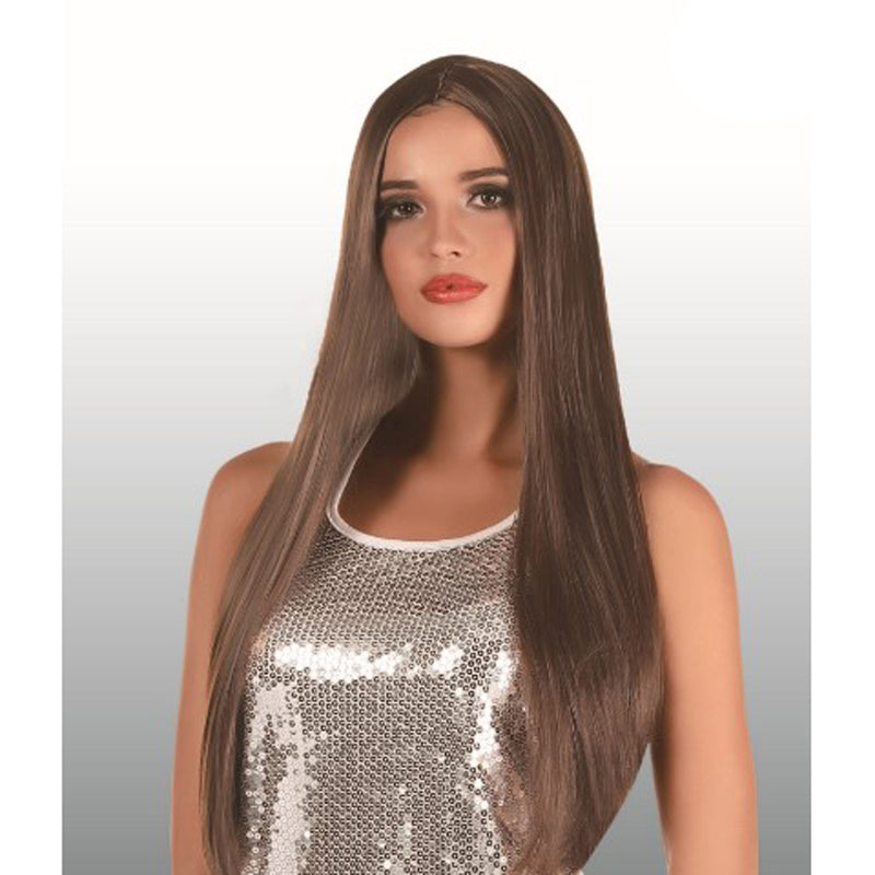 Extra Long Brown Wig