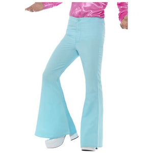 Men's Blue Flared Trousers