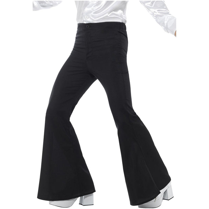 Flared Trousers Black Mens