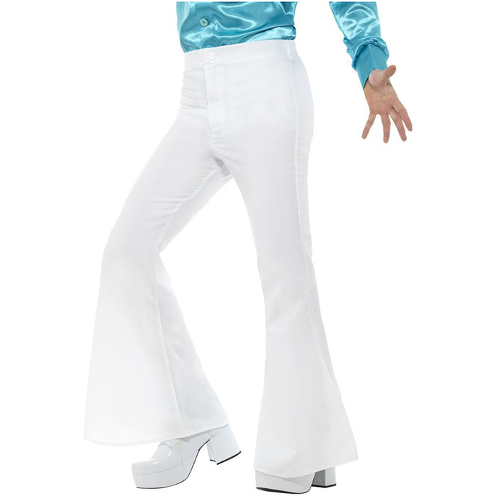 Flared Trousers White Mens