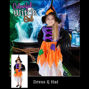 Colourful Witch Costume