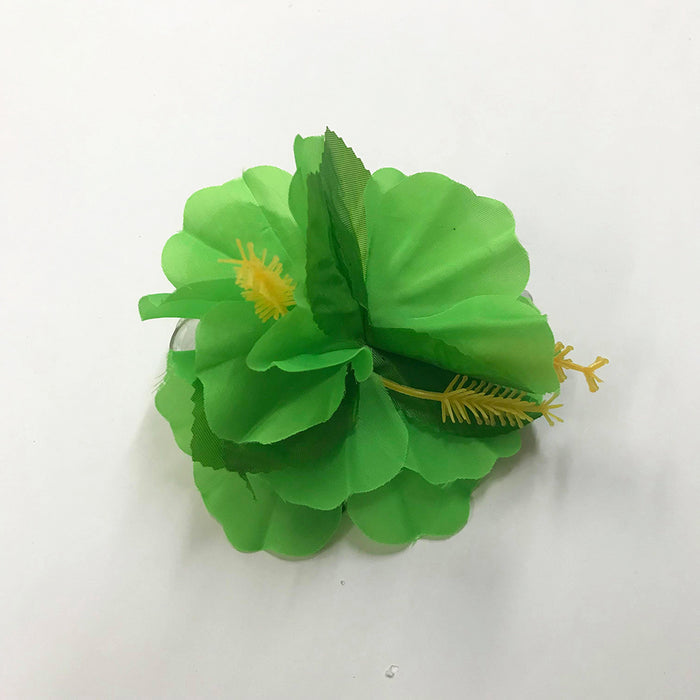 Hawaiian Floral Clip Green