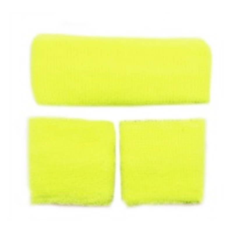 sweatband Set Fluro Yellow