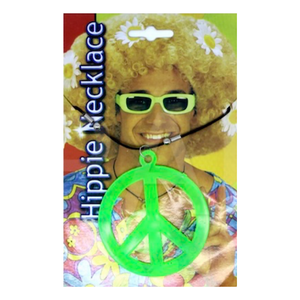 Hippie Peace Necklace Green
