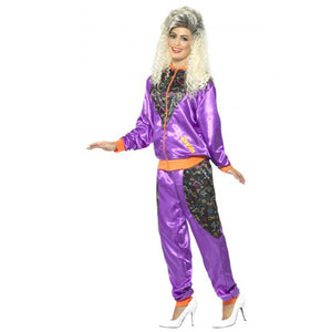 Ladies Retro Shell Suit Costume