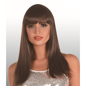 Long Brunette Wig with Fringe
