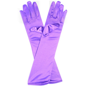 Long Satin Glove Purple