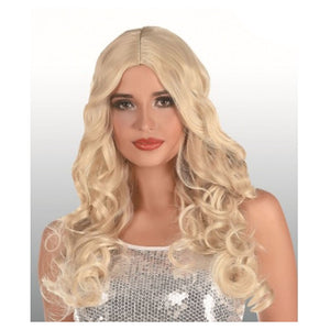 Long Blonde Wig with Curl