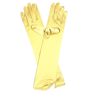 Long Satin Glove - Yellow