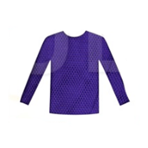 Purple Long Sleeve Fishnet Top