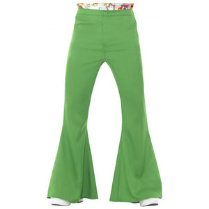 Men's Green Flared Trousers
