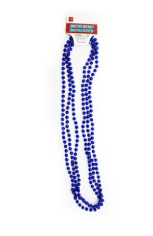 Neon Beaded Necklace - Blue