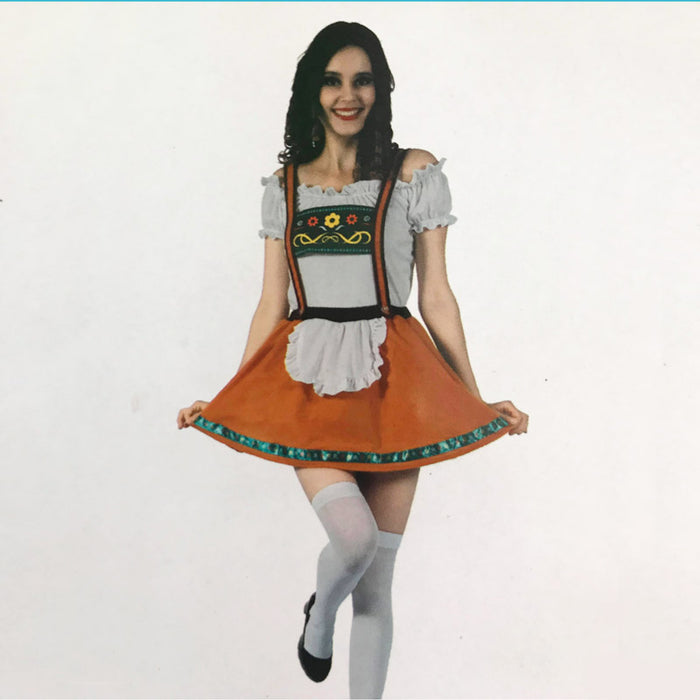 Oktoberfest Beer Girl Costume Brown