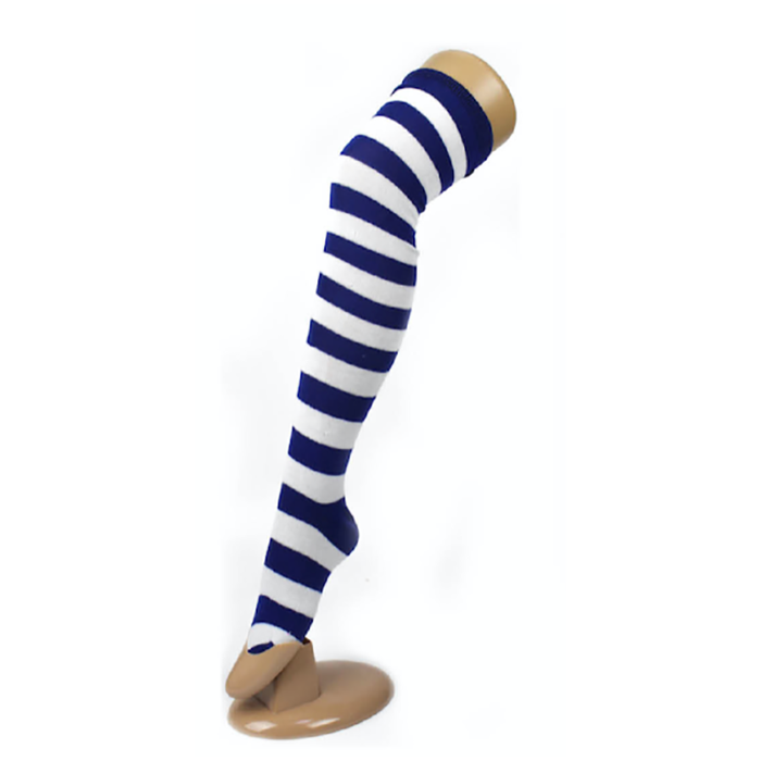 Over The Knee Socks - Blue/White