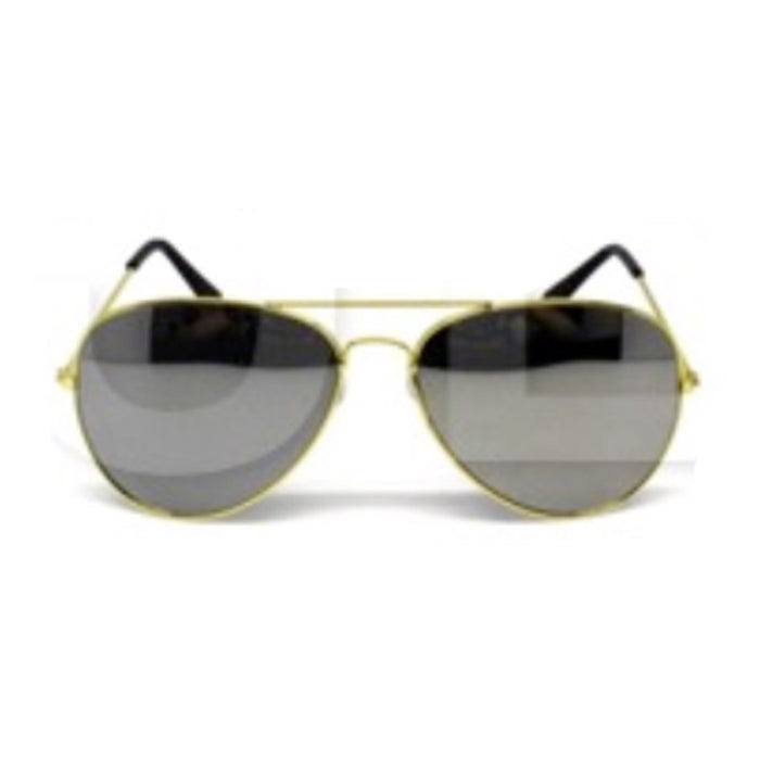 Party Glasses Aviator Mirror Gold