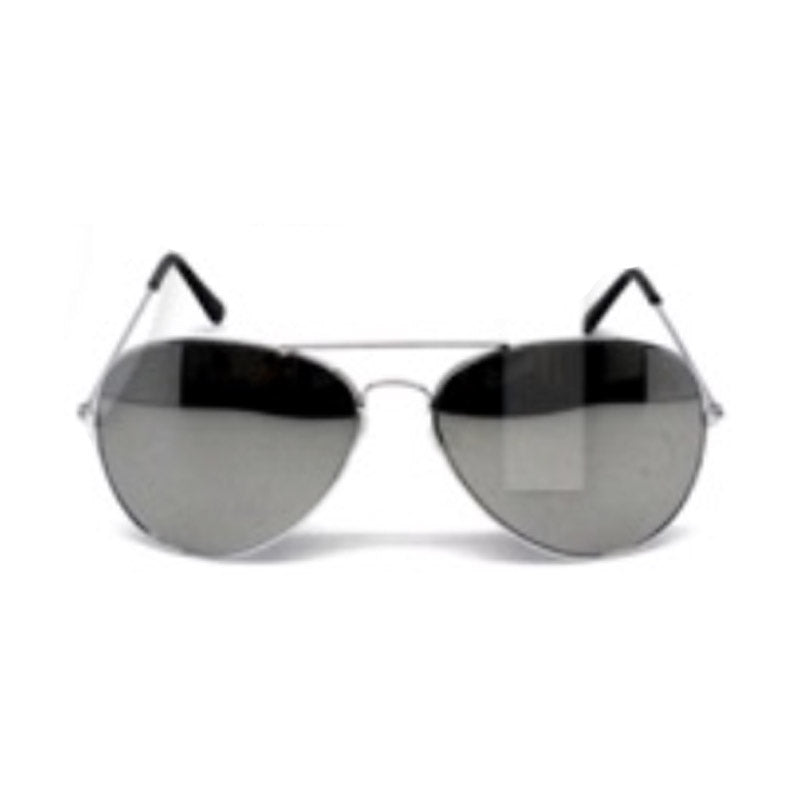 Party Glasses Aviator Mirror Silver