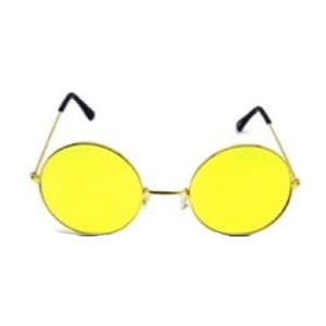 PartyGlasses Hippie Yellow