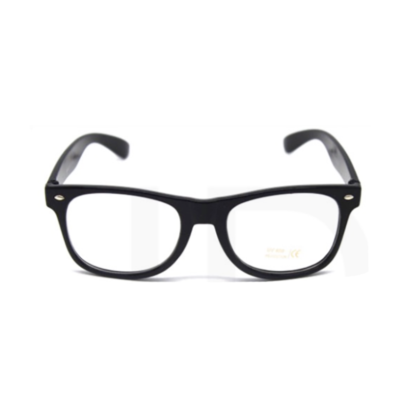 Party Glasses - Wayfarers Clear Black