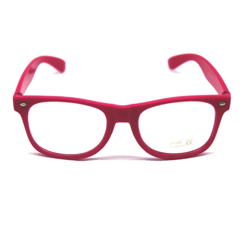 Party Glasses Wayfarers Clear - Hot Pink