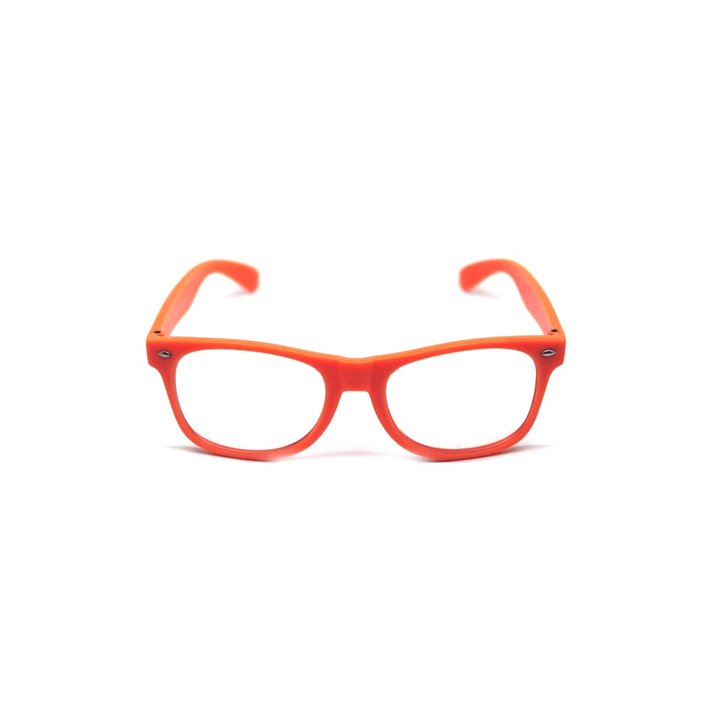 Party Glasses Wayfarers Clear - Orange