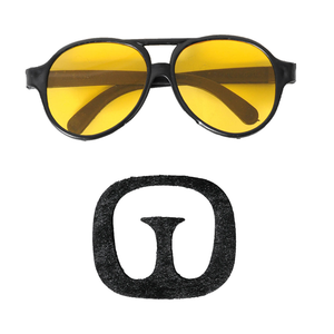 Ali G Glasses and Moustache Set