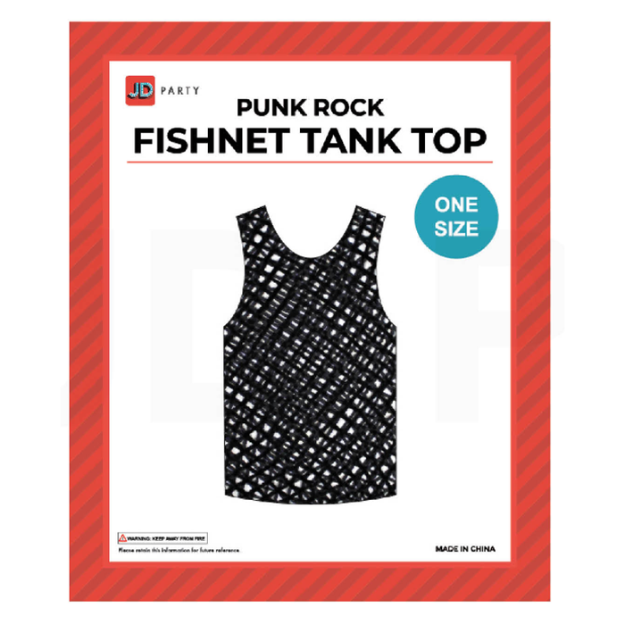 Fishnet Tank Top Black