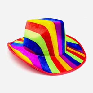Rainbow Pattern Cowboy Hat