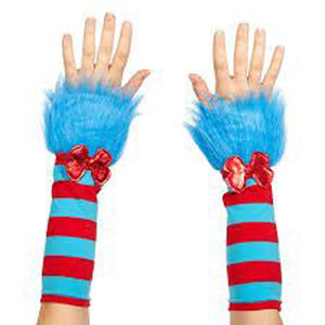 Red and Blue Stripe Gloves
